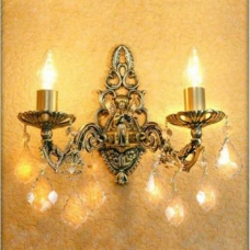 Бра Бронзовая 2 лампы №3