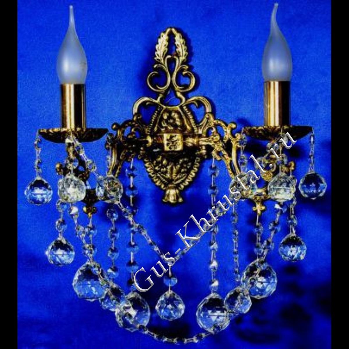 Бра Бронзовая 2 лампы №5