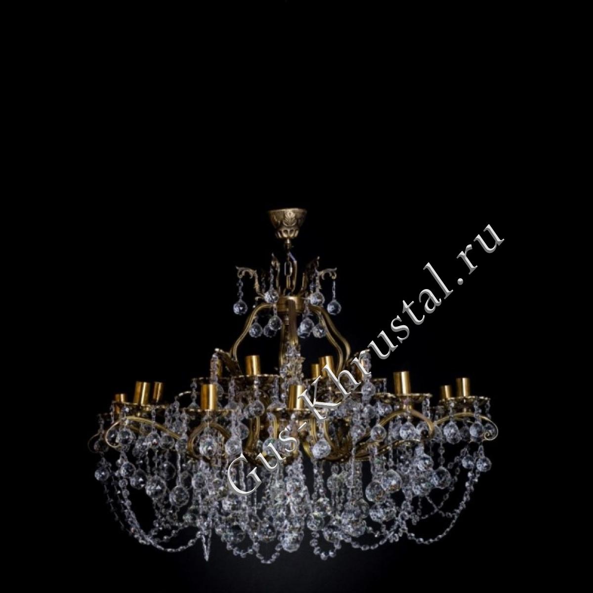 Люстра бронзовая № 1 (18 ламп)
