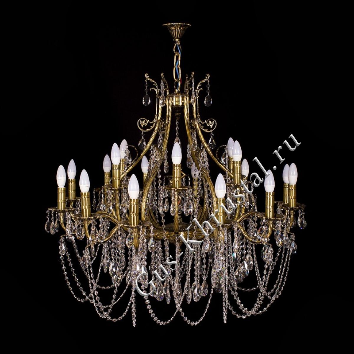 Люстра бронзовая Богиня Резная (18 ламп)