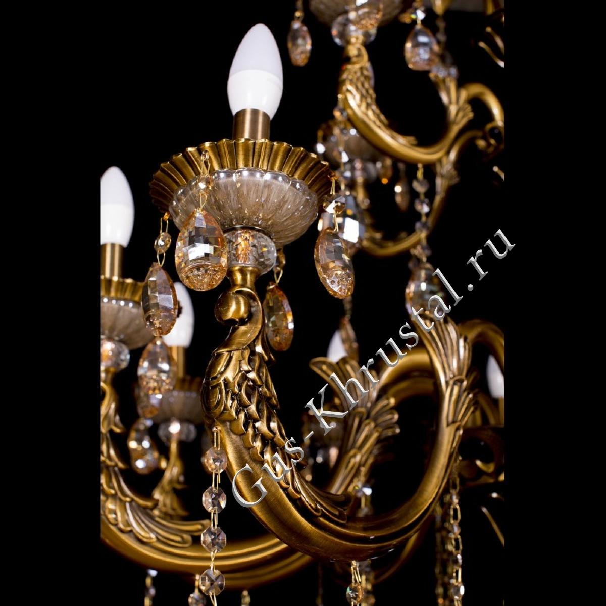 Люстра бронзовая Венера золото (30 ламп)